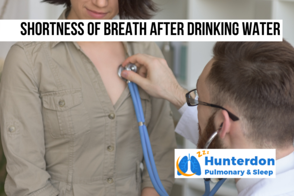 Shortness of breath after drinking water